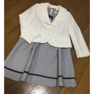 美品♡130 サイズ 入学式 女の子 フォーマル ワンピースジャケットセット(ドレス/フォーマル)