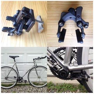 シマノ(SHIMANO)の小倉自転車 ダイレクトマウント リアブレーキ BB下 台座 ピスト ロードバイク(パーツ)