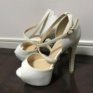 エスペランサ(ESPERANZA)のエスペランサ ハイヒール 春夏 靴 レディース 23センチ 白 パール(ハイヒール/パンプス)