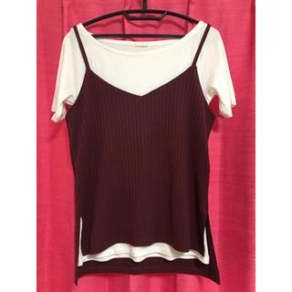 ジーユー(GU)のトップス カットソー Tシャツ(カットソー(半袖/袖なし))