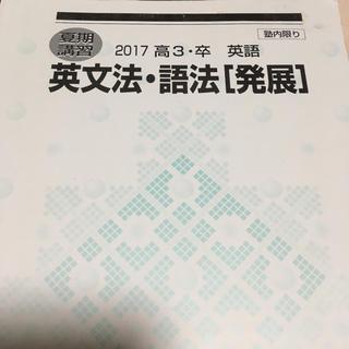 英文法・語法 発展   河合塾 夏期講習(参考書)