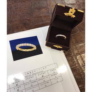 ダイヤモンド ハーフエタニティーリング 新品 再値下げ!(リング(指輪))