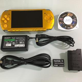プレイステーションポータブル(PlayStation Portable)の美品 PSP-3000 ブライトイエロー(携帯用ゲーム本体)