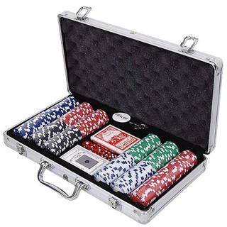 残り僅か! カジノセット ポーカーセット チップ300枚入 カジノゲーム(トランプ/UNO)