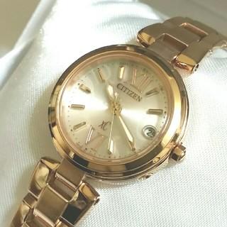 シチズン(CITIZEN)の美品☆CITIZEN XC エコドライブ電波 レディース腕時計(腕時計)