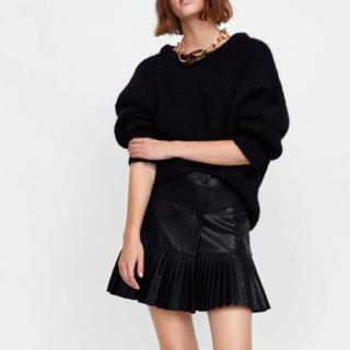ザラ(ZARA)のZara レザースカート 美品(ミニスカート)