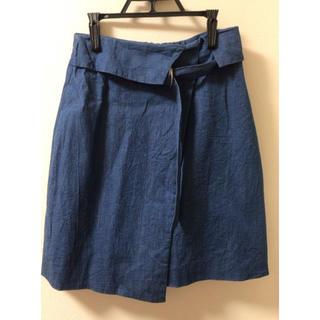 アンティローザ(Auntie Rosa)のAuntie Rosa デニム地スカート(ひざ丈スカート)