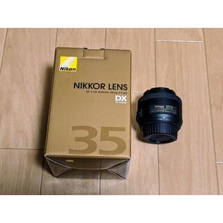 ニコン(Nikon)の【レンズ】AF-S DX NIKKOR 35mm 1:1.8G(ほぼ未使用)(レンズ(単焦点))