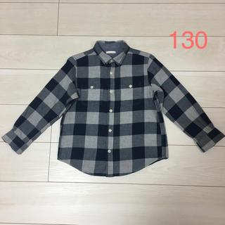 ジーユー(GU)の長袖ネルシャツ 130(ブラウス)