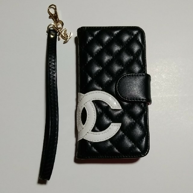 iphone7 ケース ワンオク | CHANEL iPhone7、8 手帳型ケース ストラップ付の通販 by Jun♡Jun  shop|ラクマ