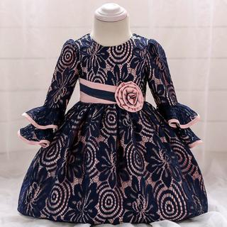 ベビーフォーマルドレス フラワーガール 子供ドレス プリンセスドレス90cm(ドレス/フォーマル)