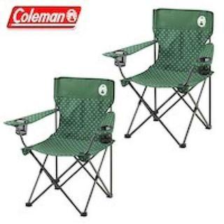 コールマン(Coleman)のコールマン リゾートチェア 2脚セット グリーンドット 人気 キャンプ 椅子(テーブル/チェア)