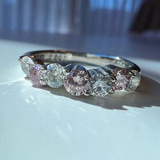 ピンクダイヤモンド エタニティタイプリング(リング(指輪))