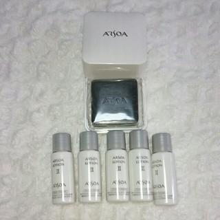 アルソア(ARSOA)のnew クイーンシルバー20gケース付き&アルソアローションllサンプル5本(洗顔料)