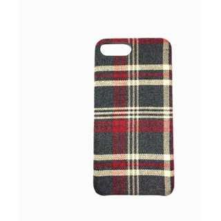 スマホケース フランネルチェック柄 iPhone 7 かわいい シンプル 保護(アイロン)