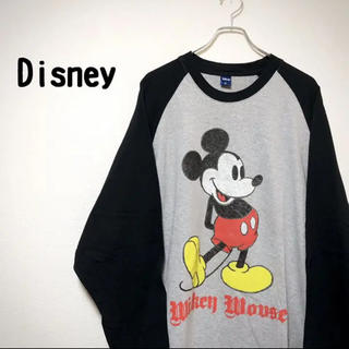 ディズニー(Disney)の【レア】 Disney ディズニー ミッキー スウェット トレーナー 刺繍 3L(Tシャツ/カットソー(七分/長袖))