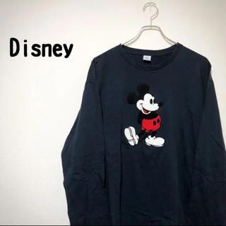 ディズニー(Disney)の【レア】 Disney ディズニー tシャツ メンズ トレーナー 刺繍 ワッペン(Tシャツ/カットソー(七分/長袖))