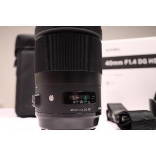 シグマ(SIGMA)の極美品 SIGMA シグマ 40mm F1.4 DG HSM|Art canon(レンズ(単焦点))