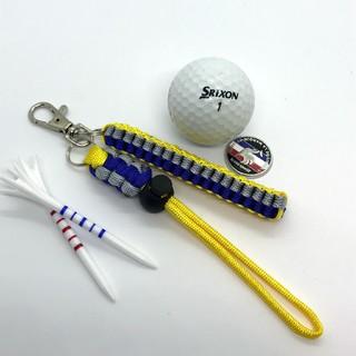 キャロウェイゴルフ(Callaway Golf)のゴルフ ティホルダー グローブホルダー イエロー&グレーブルー(その他)