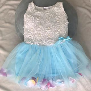 ドレス ブルー 90㎝(ドレス/フォーマル)