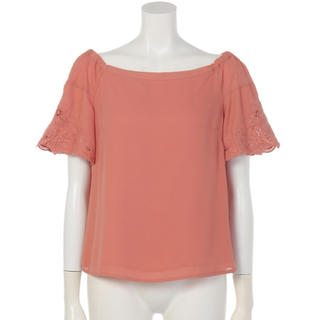 売り切り♡新品♡アプワイザーリッシェ♡カットワーク刺繍ブラウス♡ピンク♡サイズ2