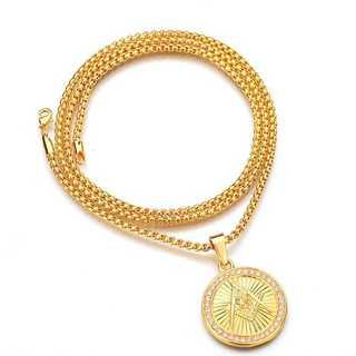 新品◆インパクト大◆ゴールドネックレス◆アクセサリー(コーナーソファ)