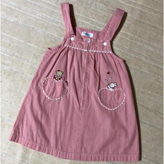 familiar - かなり美品♡台湾ファミリア♡ハートポケット 春夏ワンピース ピンク 100