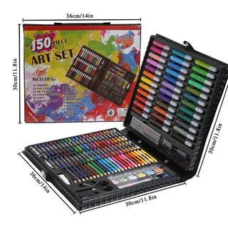 文房具 絵具セット 150本 (色鉛筆、水彩絵具、クレヨン、固形水彩)(絵の具/ポスターカラー )