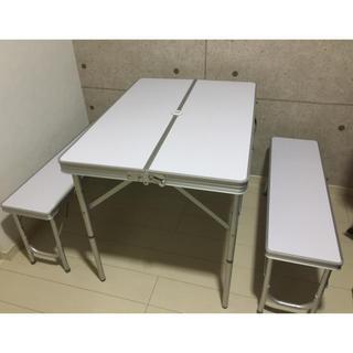 ヤマゼン(山善)のキャンパーズコレクション テーブルベンチセット(テーブル/チェア)