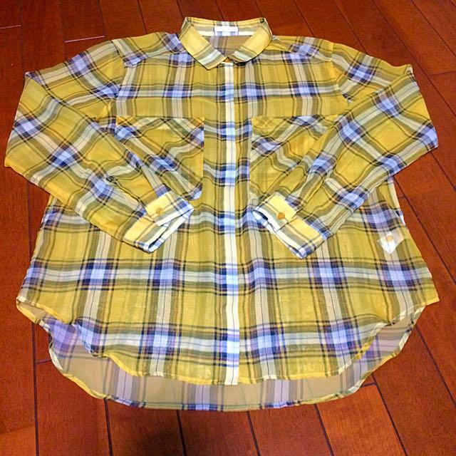 GU(ジーユー)のシースルーシャツ GU レディースのトップス(シャツ/ブラウス(半袖/袖なし))の商品写真