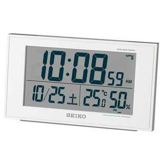 【売れ筋】セイコー クロック 目覚まし時計 電波 デジタル カレンダー(置時計)