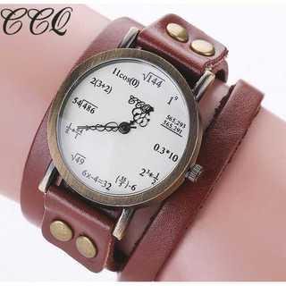 SNS話題◆新品◆レディースウォッチ◆数式時計◆茶(コーナーソファ)