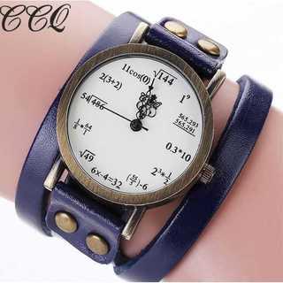 SNS話題◆新品◆レディースウォッチ◆数式時計◆むらさき(コーナーソファ)