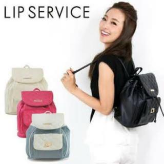 リップサービス(LIP SERVICE)のリュック (黒)(リュックサック)