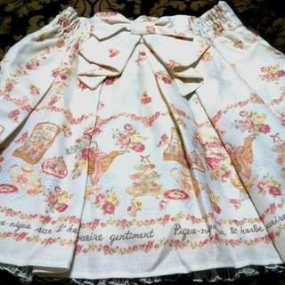 アンクルージュ(Ank Rouge)のAnkRouge●白♥花柄&ピクニック柄♥スカート(ミニスカート)
