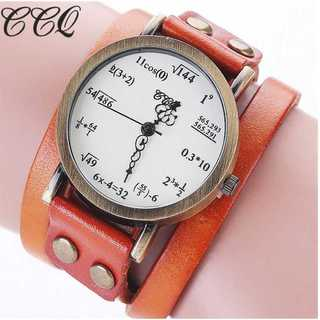 SNS話題◆新品◆レディースウォッチ◆数式時計◆オレンジ(コーナーソファ)
