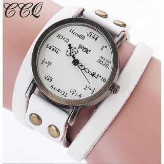 SNS話題◆新品◆レディースウォッチ◆数式時計◆白(コーナーソファ)