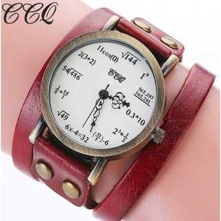 SNS話題◆新品◆レディースウォッチ◆数式時計◆赤(コーナーソファ)