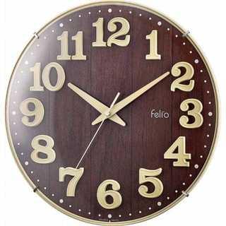オシャレ!! 壁掛け時計 アイボリー Felio(フェリオ)(掛時計/柱時計)