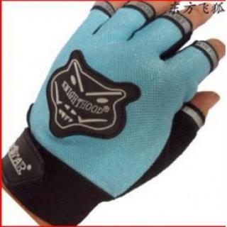 サイクル グローブ 指出しタイプ 手袋 青 送料無料 ブラック ブルー 男女兼用(手袋)