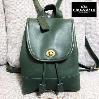COACH - 送料無料 オールドコーチ リュック レトロ ヴィンテージ 緑 9960 M006