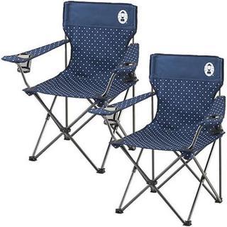 送料込! コールマン リゾートチェア 2脚セット ネイビードット 椅子 人気(テーブル/チェア)