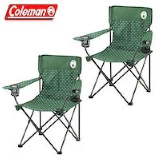 コールマン リゾートチェア 2脚セット グリーンドット 人気 キャンプ 椅子(テーブル/チェア)