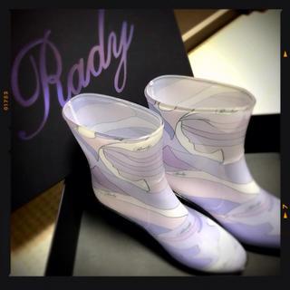 レディー(Rady)のRady ❥ミルフルール柄レインブーツ(レインブーツ/長靴)