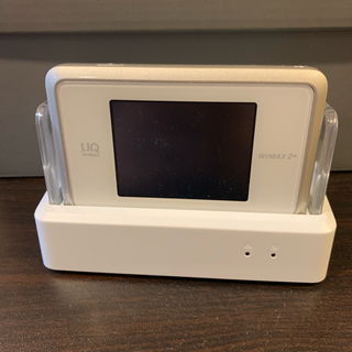 エヌイーシー(NEC)のWIMAX 2+ Speed Wi-Fi NEXT WX03 ホワイトゴールド(PC周辺機器)