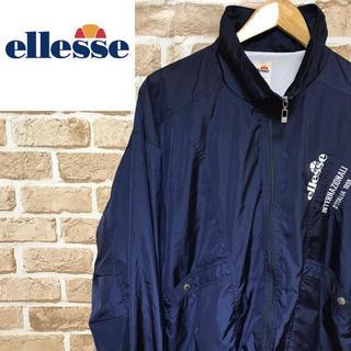 エレッセ(ellesse)の【レア】エレッセ☆セットアップナイロンビッグロゴ ビンテージサイドデザイン90s(ナイロンジャケット)