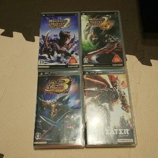 プレイステーションポータブル(PlayStation Portable)のPSP ソフト4本セット(携帯用ゲームソフト)