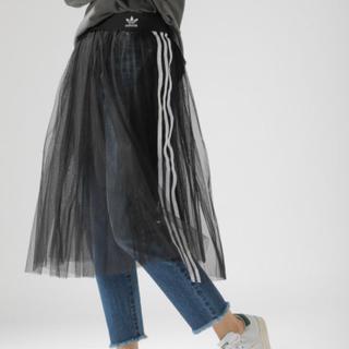 アディダス(adidas)のadidasアディダス チュールスカート 新品(ひざ丈スカート)