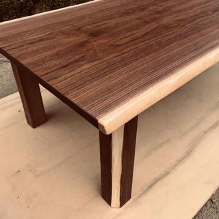 おしゃれテーブル折れ脚ウォールナット120日本製(折たたみテーブル)