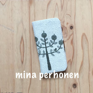ミナペルホネン(mina perhonen)の【40】ringo♡ミナペルホネン♡iPhone x手帳型ケース(iPhoneケース)